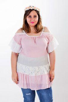 Blusa love rosa talla grande