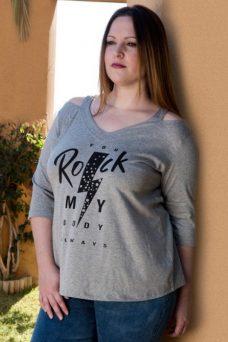 Camiseta algodon rock tallas grandes