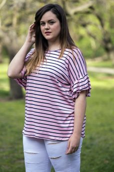 camiseta rosa tallas grandes