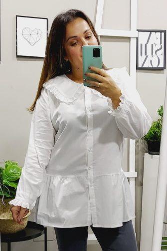 Blusa Larga Blanca