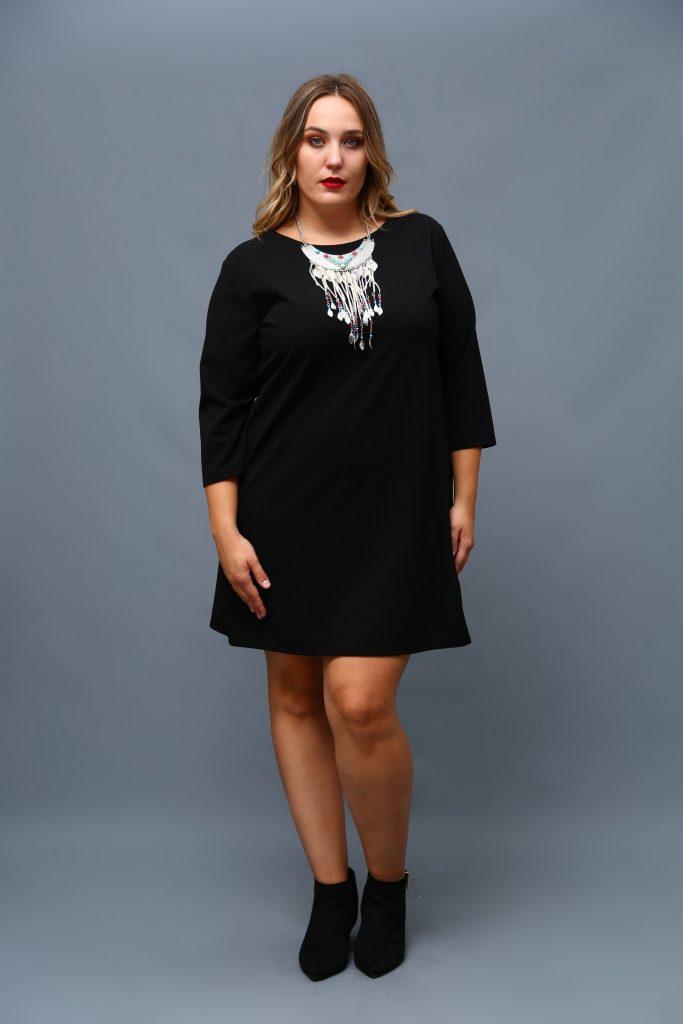 Vestido tallas Grandes negro barato