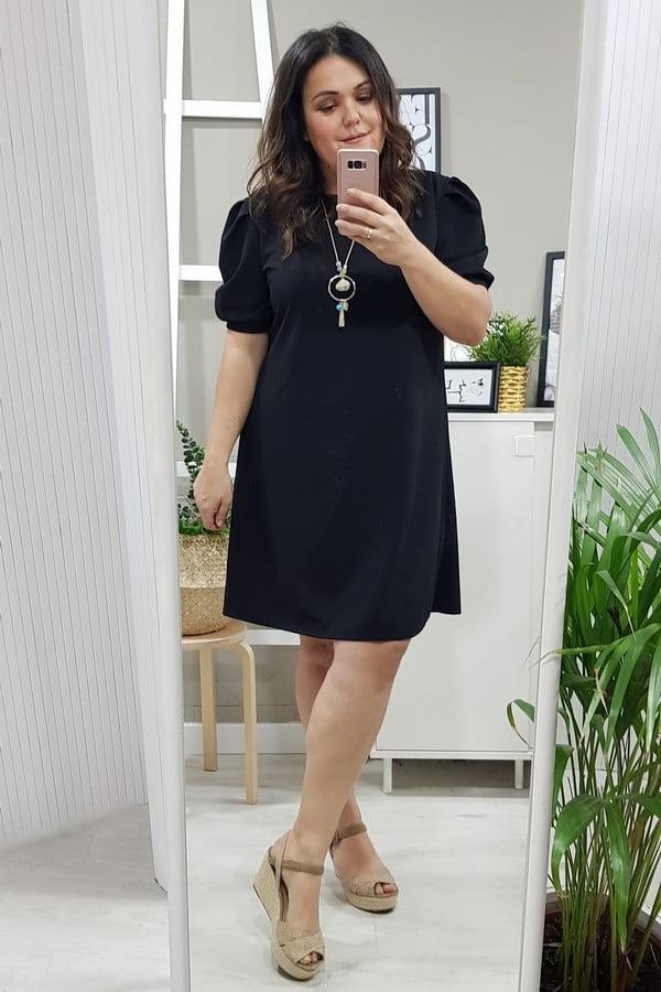 Vestido Madrid Negro Corazon Xl Tallas Grandes