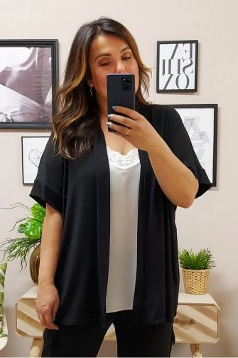 kIMONO negro tallas Grandes