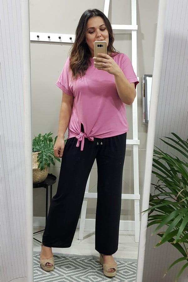 pantalon ancho negro