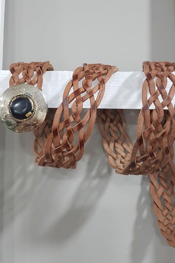 cinturon cuero trenzado