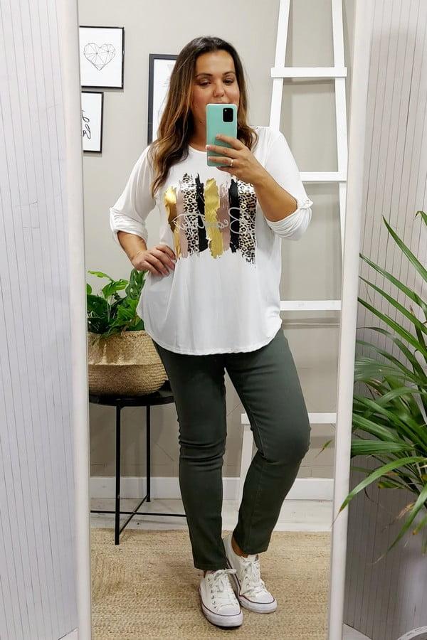 Camiseta tallas grandes Blancas