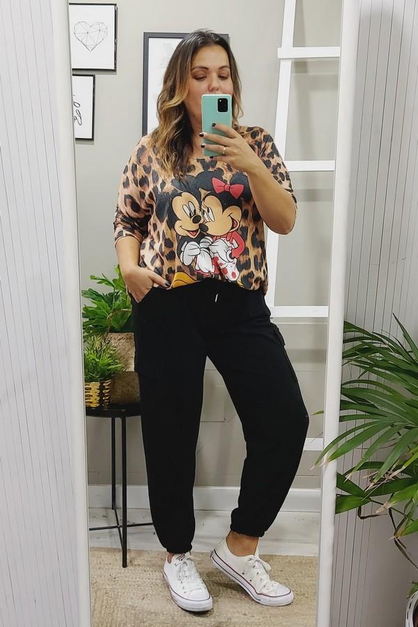 Jersey Oversize Mickey Print