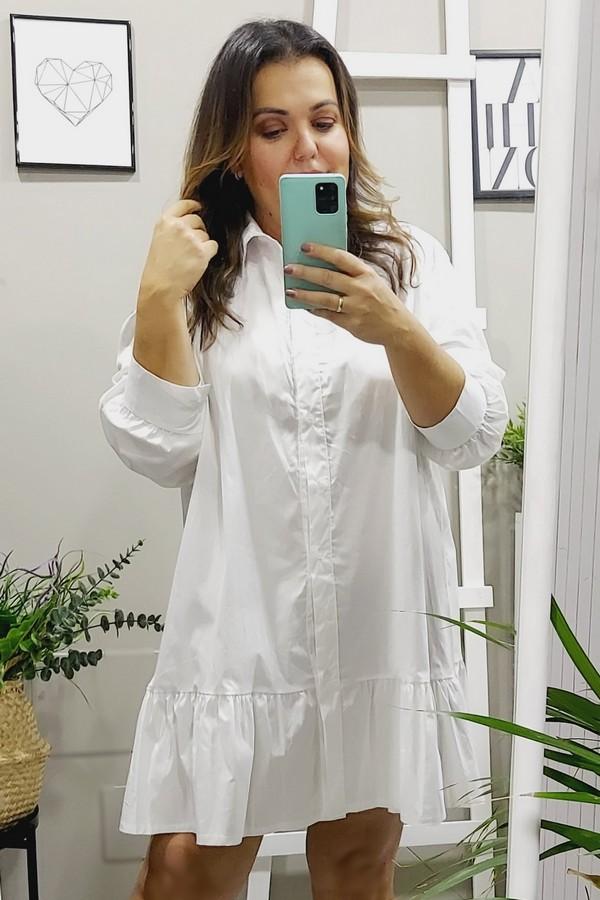 Camisa tallas grandes blancas