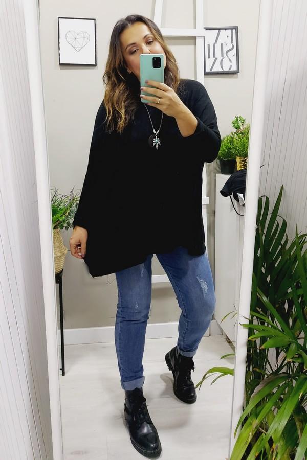 jersey oversize negro tallas grandes