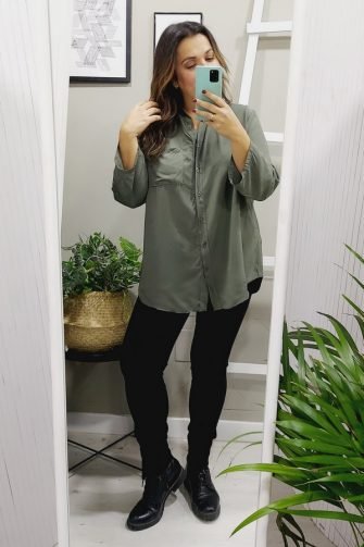 Camisa Viscosa Kaki
