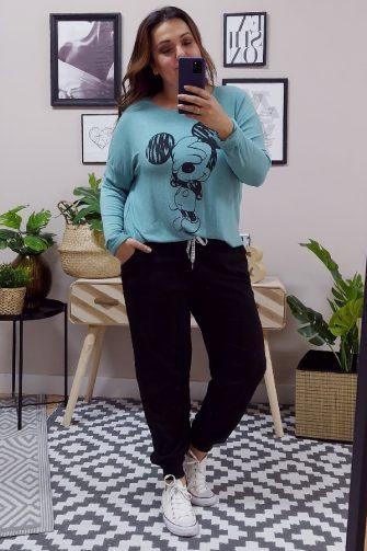 Pantalon chandal negro tallas grandes