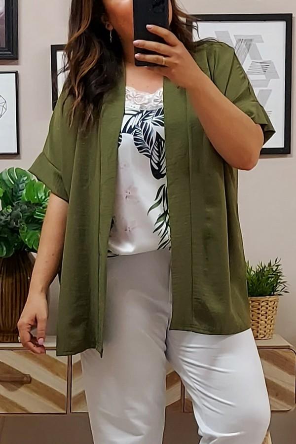 Kimono Crep Kaki