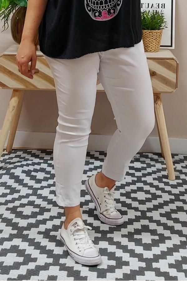 Pantalón Loneta Elástico Blanco