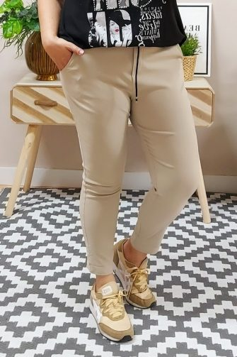 Pantalón Loneta Elástico Beige