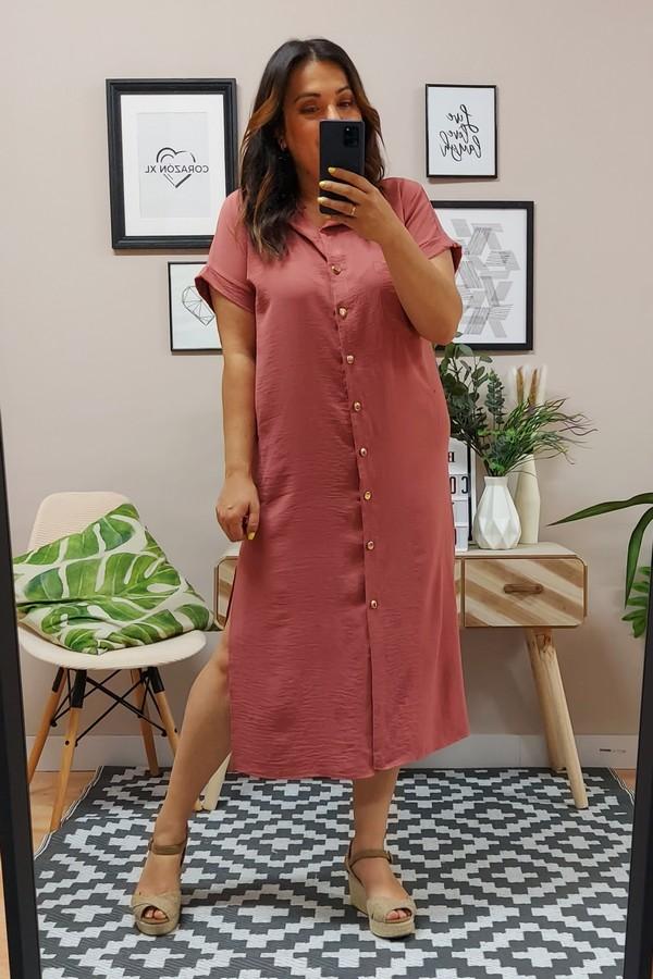 Vestido Sara Rosa Empolvado