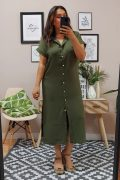 Vestido Sara Kaki