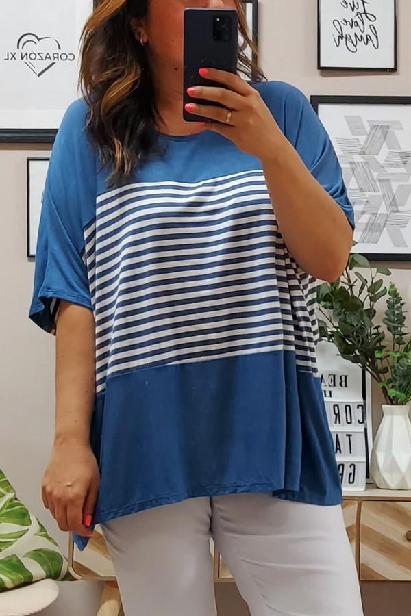 Camiseta Oversize Marinera Denim