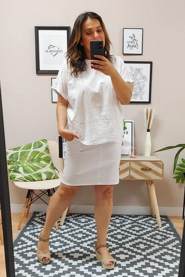 Falda Loneta Blanca