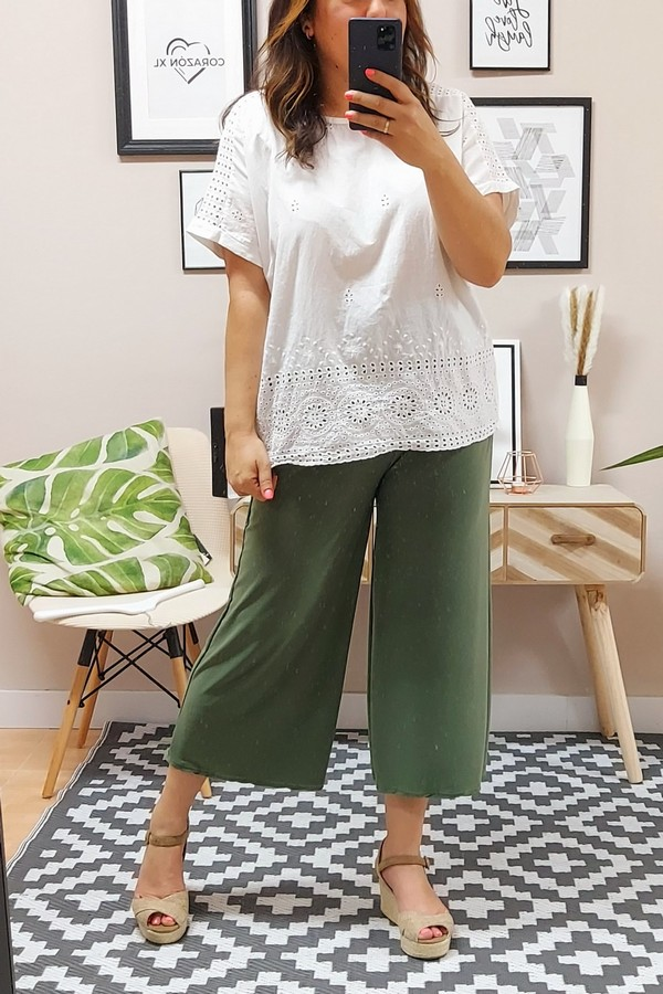Pantalón Culotte Kaki