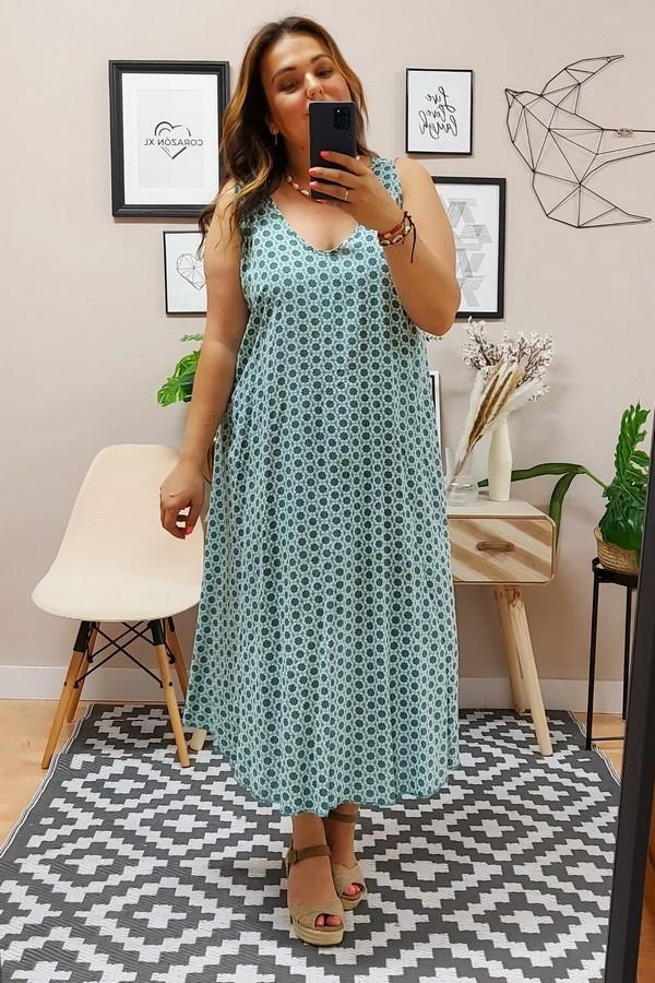 Vestido Grecas Verde