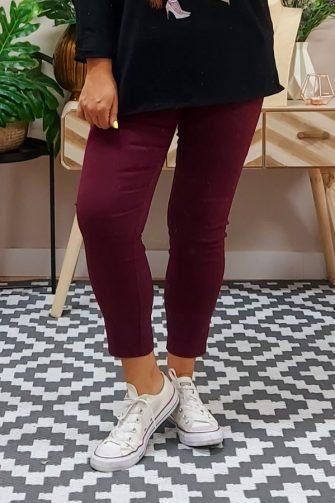 Pantalón Loneta Burdeos