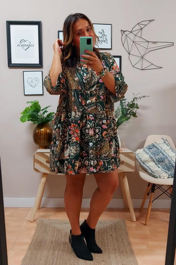 Vestido Liz Cachemir Verde