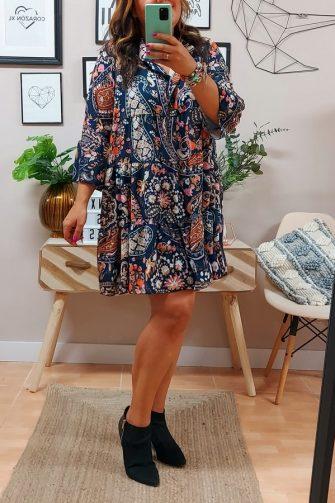 Vestido Liz Cachemir Azul