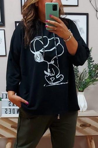 Sudadera Snoopy Negra