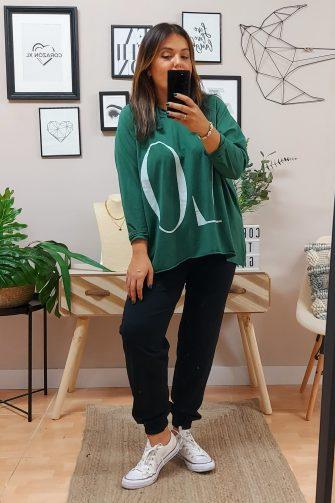 Camiseta Love Verde
